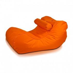 EF2048 Ecopuf Sedací vak Ecopuf - HOGAN - polyester NC9 - Oranžová