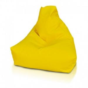 Ecopuf Sedací vak Ecopuf - KEIKO S ekokoža E18 - Žltá