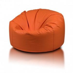 Ecopuf Sedací vak ECOPUF - MINI ISLAND polyester NC9 - Oranžová