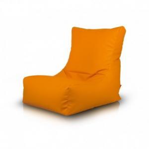 Ecopuf Sedací vak ECOPUF - SAKURA - ekokoža E4 - Oranžová