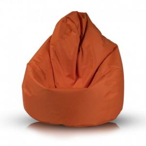 Ecopuf Sedací vak FUZZY - polyestér NC9 - Oranžová