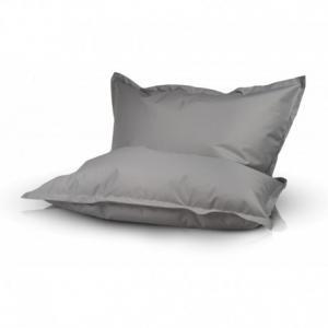 Ecopuf Sedací vankúš Ecopuf - Pillow L polyester NC13 - Svetlo sivá