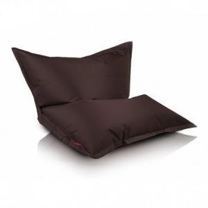 Ecopuf Sedací vankúš Ecopuf - Pillow L polyester NC15 - Tmavo hnedá