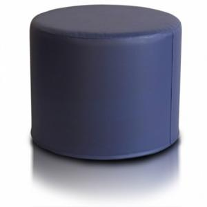 Ecopuf Taburetka ECOPUF - ROLLER - ekokoža E11 - Tmavo modrá