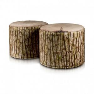 EF3009 Ecopuf Taburetka ECOPUF - ROLLER - MODERN drevo plyš DG31