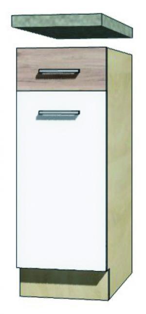 >> EKO - 1D dolná skrinka so zásuvkou a policou 30cm