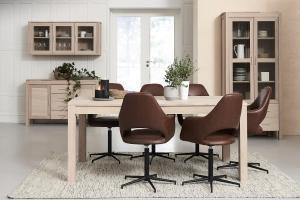 Elegantný jedálenský stôl rozkladací Aang, 200 - 300 cm