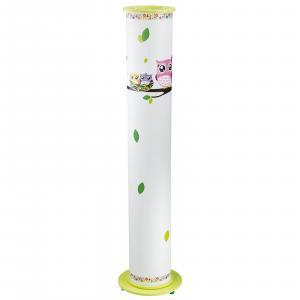 Elobra Stojaca lampa Sova pre detskú izbu, bielo-zelená