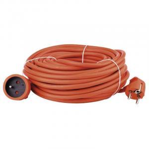 Emos 1 zásuvka 20m spojka oranžový P01120