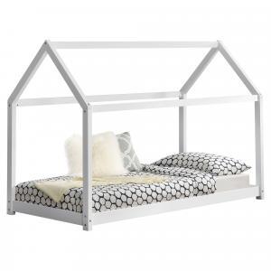 [en.casa] Detská posteľ AAKB-8678 - biela - 90 x 200 cm