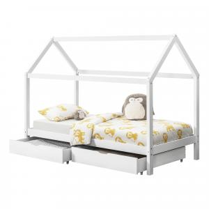 [en.casa] Detská posteľ AAKB-8688 90x200 cm biela