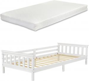 [en.casa] Detská posteľ NUUK AAKB-8768 90x200 cm biela s matracom