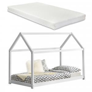 [en.casa]® Detská posteľ s matracom AAKB-8678 + HKSM