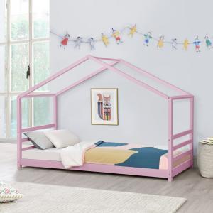 [en.casa] Detská posteľ »Vardø« AAKB-8781 90x200 cm ružová