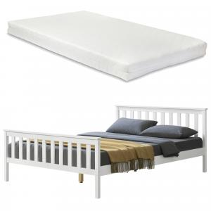 [en.casa] Manželská posteľ ABWB-2011 s matracom a roštom 140x200 cm