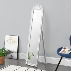 [en.casa] Stojace zrkadlo »Arezzo« ABDM-5931 biele 160x40 cm