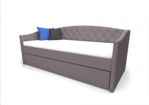 Eshopist Čalúnená posteľ ALESSIA 90 x 200 cm farba šedá/dub