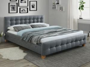 Eshopist Čalúnená posteľ BARCELONA 160 x 200 cm farba šedá/dub