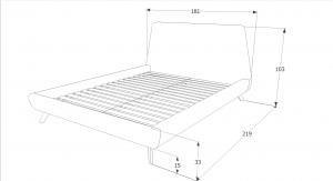 Eshopist Čalúnená posteľ GANT 160 x 200 cm farba tyrkysová