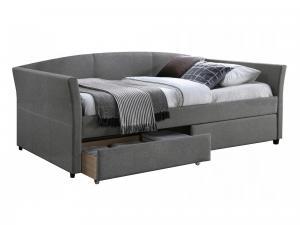 Eshopist Čalúnená posteľ LANTA 90 x 200 cm šedá