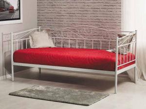Eshopist Kovová posteľ BIRMA 90 x 200 cm biela