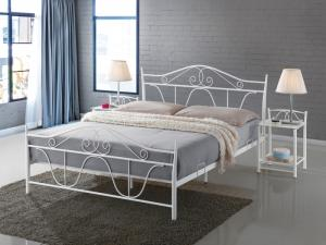 Eshopist Kovová posteľ DENVER 160 x 200 cm biela