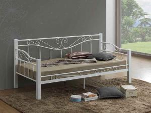 Eshopist Kovová posteľ KENIA 90 x 200 cm biela