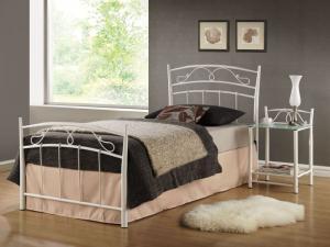 Eshopist Kovová posteľ SIENA 90 x 200 cm farba biela