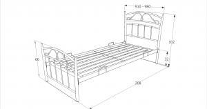 Eshopist Kovová posteľ SIENA 90 x 200 cm farba čierna