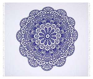 Esposa PLÁŽOVÁ OSUŠKA, 210/220 cm, modrá, biela - modrá, biela