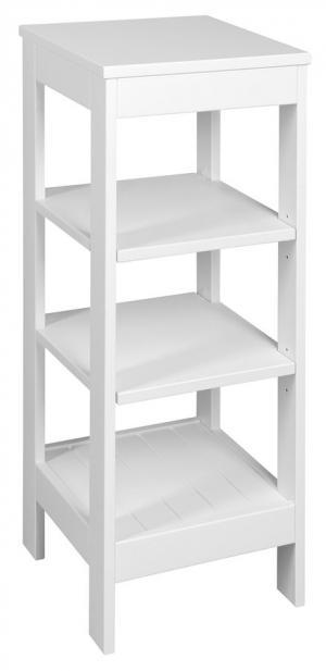 Etide ET086 policový regál 36x86x36 cm, biely matný