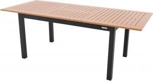 EXPERT WOOD antracit - rozkladací hliníkový stôl 220 / 280x100x75 cm