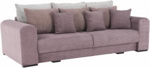 Extra priestranná pohovka, fialová/staroružová/béžová, GILEN BIG SOFA