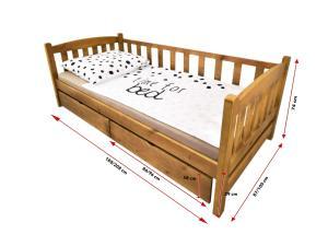 FA Detská posteľ so zábranou Oľga 2 - dub Rozmer lôžka: 200x90