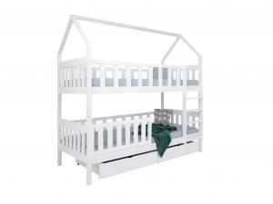 FA Poschodová posteľ Domček 200x90 - biela