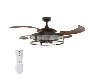 FANAWAY 212925 - LED Stropný ventilátor CLASSIC 3xE27/4W/230V hnedá