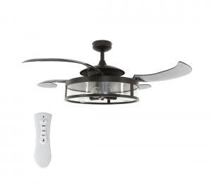 FANAWAY 212927 - LED Stropný ventilátor CLASSIC 3xE27/4W/230V čierna