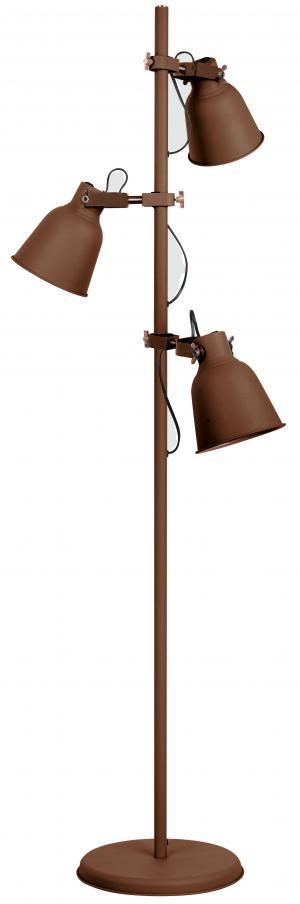 faneurope I-LEGEND-PT3 BRO stojací lampa 3xE27 kov v hnědé barvě