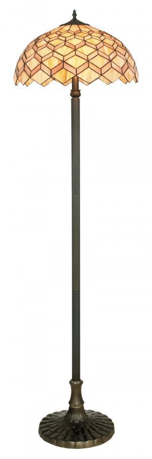 faneurope I-LIBERTY-PT stojací lampa geometrické vzory styl Tiffany