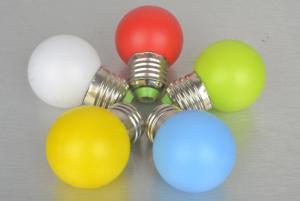 Farebné LED žiarovky E27 1/3/5 W - 5 farieb Farba: červená, Príkon: 1W