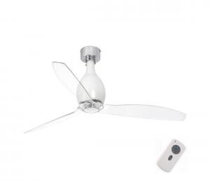FARO 32020 - Stropný ventilátor MINI ETERFAN biela/číra