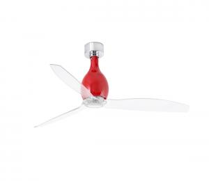 FARO 32029 - Stropný ventilátor MINI ETERFAN červená/číra