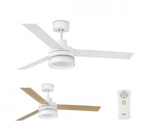 FARO 33460 - LED Stropný ventilátor s reproduktorom ICE LED/15W/230V biela/hnedá