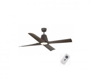 FARO 33490 - Stropný ventilátor TYPHOON IP44 hnedá