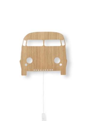 ferm LIVING Detská LED lampička Oak Car Lamp