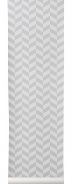 ferm LIVING Tapeta Angle Grey