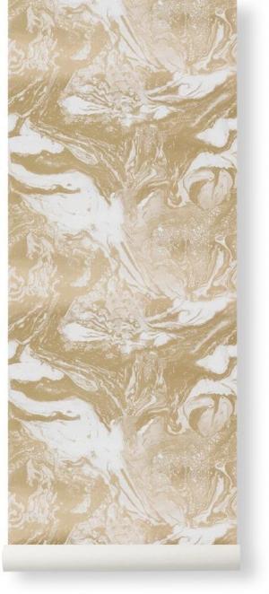 ferm LIVING Tapeta Marbling Gold