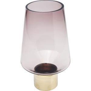 Fialová skleněná váza Noble Ring 26cm