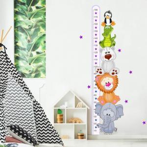 Fialový meter so zvieratkami II - 180cm