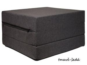 FIMEX Rozkladacie matrace pre hostí ELEGANCE 65x195cm Vzor: tmavě-šedá